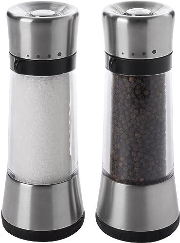 OXO Good Grips Lua Salt Mill Salt & Pepper Set Silver