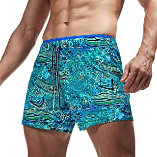 AIMPACT Mens Quick Dry Swim Trunks Beach Board Shorts with Pockets and Lining