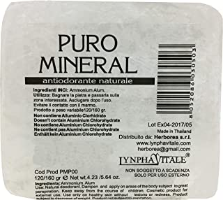 Desodorante de Alumbre de Amonio Natural en Piedra en Bruto - 120/160 gr - Puro Mineral - Cantitad: 1