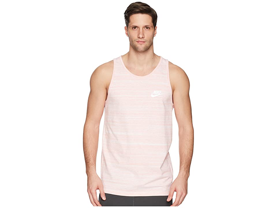 2bca398aac5d Nike Sportswear Advance 15 Tank (White Rush Coral Heather White) Men s  Sleeveless