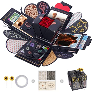 Black Box FORNORM Love Memory DIY Photo Album as Birthday Gift and Surprise Box About Love Creative Explosion Gift Box
