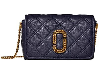 Marc Jacobs Flap Crossbody (Navy) Handbags