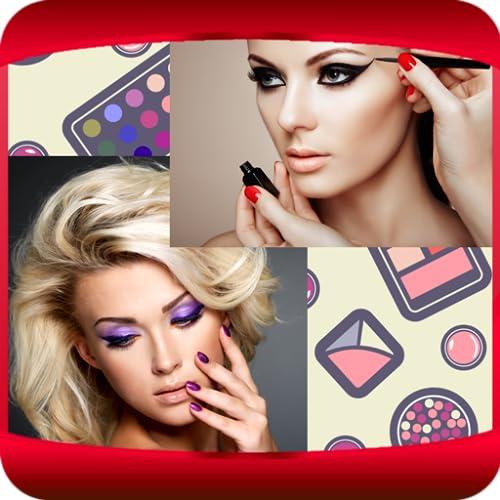 Colagem de fotos de maquiagem