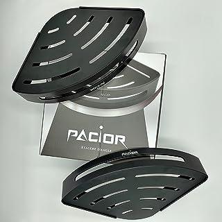 PACIOR | 2 Etageres d'Angle de Douche en Aluminium Antirouille Telescopique, Installation Facile Ventouses Autocollantes s...