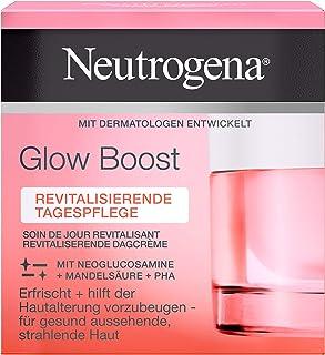 Neutrogena Glow Boost ansiktskräm, vitaliserande dagvård, med mandelsyra för strålande hy, 50 ml
