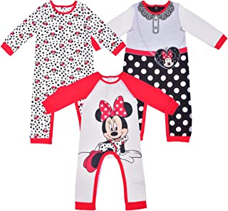 Sponsored Ad - Disney Baby Girls' 3 Pack Minnie Coveralls