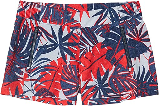 Collegiate Navy Tropical Print