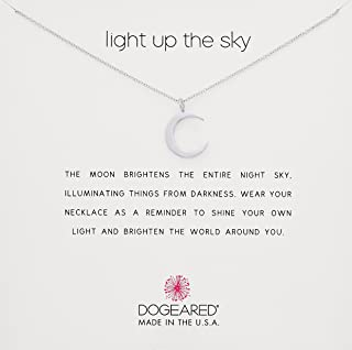 Reminder Light Up The Sky, Thin Crescent Moon Chain Necklace