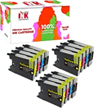 Drax Ink Cartridges Printer Ink - 12 Pack Compatible Ink Cartridge Replacement LC-75 LC-75XL High Yield for Brother MFC-J280W MFC-J430W (3 Black, 3 Cyan, 3 Magenta, 3 Yellow)