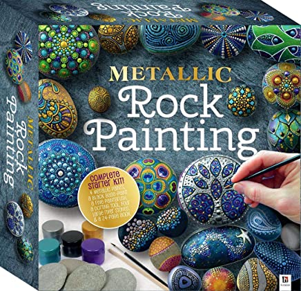 Metallic Rock Painting Square Tuck Box