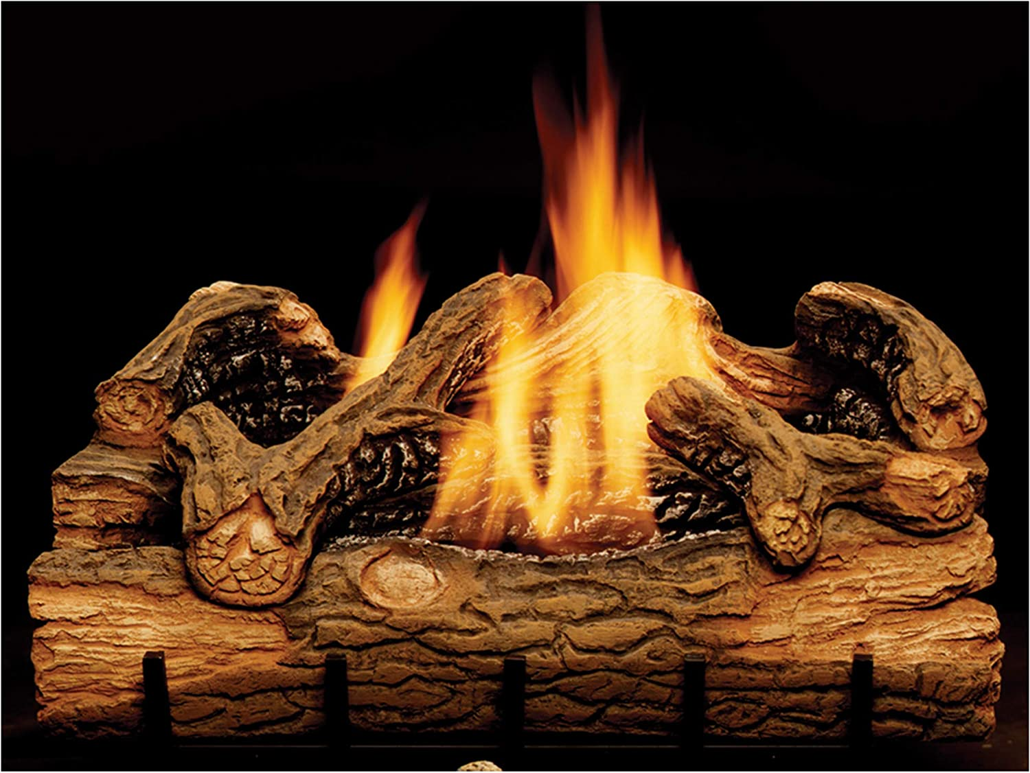 Monessen Charred Japan Maker New Hickory Ventless Gas Logs Recommended Control Manual 24 -