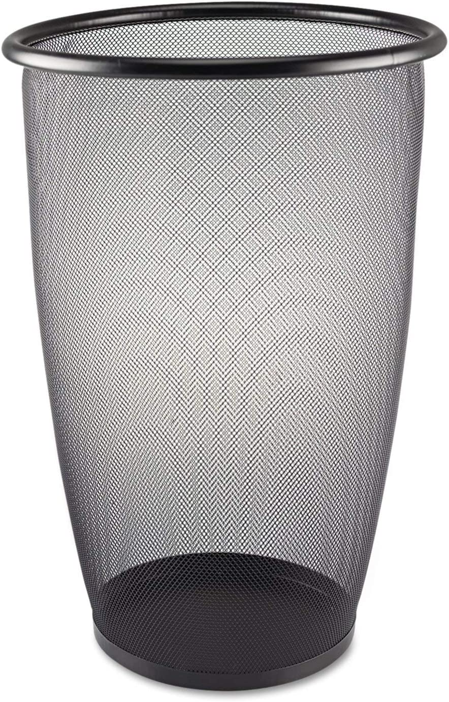 Safco Super sale period Popularity limited Products 9718BL Onyx Mesh Large Round 9-Gallo Wastebasket