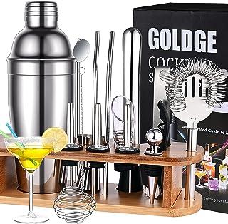 GOLDGE 17pz Juego de Cócteles para Hogar, Conjunto de Mezclador de Cócteles 750ml Abridor de Botellas y Vaso Medidor de Có...