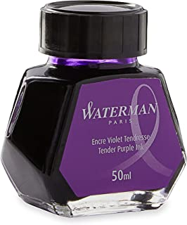 Waterman Fountain Pen Ink, Tender Purple, 50ml Bottle