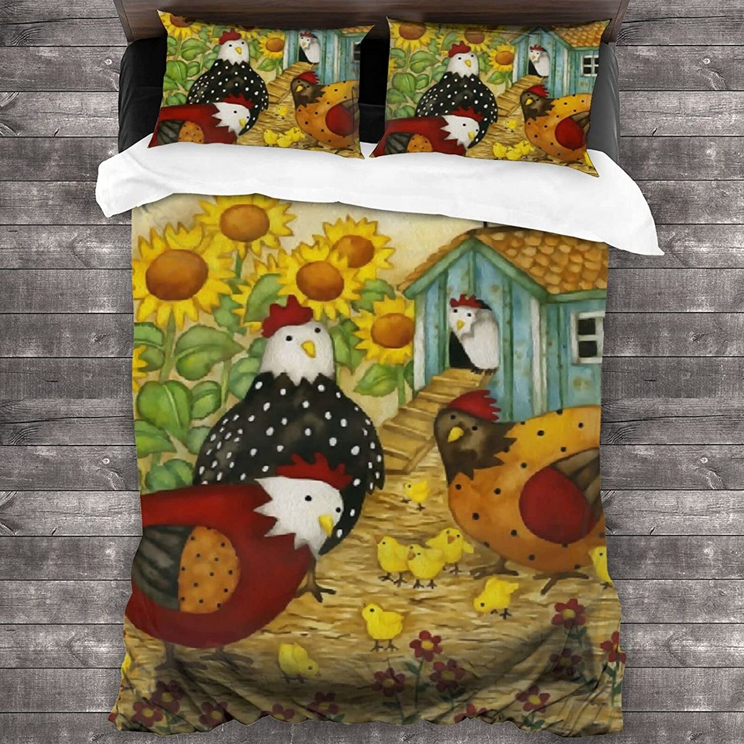 AUISS Bedding Set Nature Super Special SALE held Max 46% OFF Farm Life Cover Rooster Quilt Bedroom C