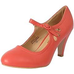 d6b4c227651 Chase   Chloe Kimmy-21 Women s Round Toe Pierced Mid Heel Mar .