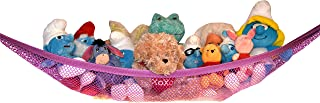Kidde Time Stuffed Animal Hammock – Toy Hammock – Stuffed Animal Net to Hang on Bedroom Wall – Teddy Bear Hanging Net – Stuffie Storage (Pink)