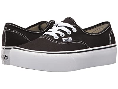 Vans Authentic Platform 2.0 (Black) Skate Shoes