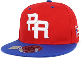 PR 3D Embroidered Flatbill Snapback Cap with Puerto Rico Flag