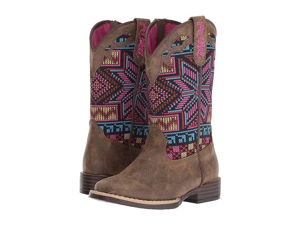 M&F Western Kids Hailey (Toddler/Little Kid) (Brown/Multi) Cowboy Boots