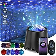 SOLMORE LED-sterrenhemelprojector, sterrenlamp, ingebouwde muziekspeler, nachtlampje, sterrenhemel met afstandsbediening, ...