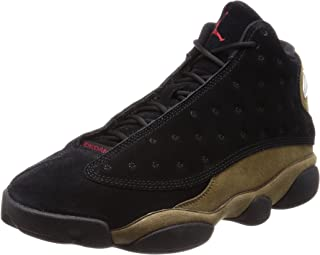 NIKE 414571-006 Men AIR 13 Retro Jordan Black Gym RED Light Olive Size: 7.5