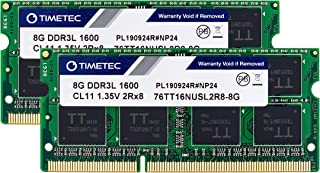 Timetec Hynix IC 16GB(2x8GB) ノートPC用メモリ DDR3L 1600 MHz PC3 12800 1.35v 204 Pin SODIMM Laptop memory upgrade 永久保証 (16GB(2x8GB))