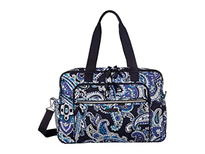 Vera Bradley Deluxe Weekender Travel Bag (Deep Night Paisley) Bags