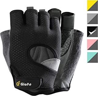 Glofit FREEDOM Workout Gloves, Knuckle Weight Lifting Shorty Fingerless Gloves with Curved Open Back, for Powerlifting, Gym, CrossFit, Women and Men