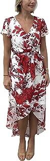 Women's Chiffon Floral Wrap Front Dress