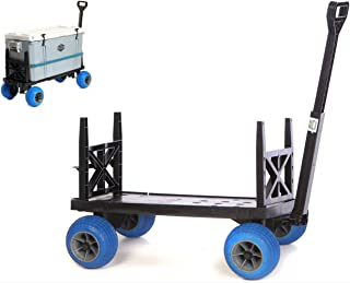 Cooler Cart with On Wheels Ice Chest Box Carrier Wagon Igloo Yeti Coleman Pelican Grizzly Rubbermaid Hauler