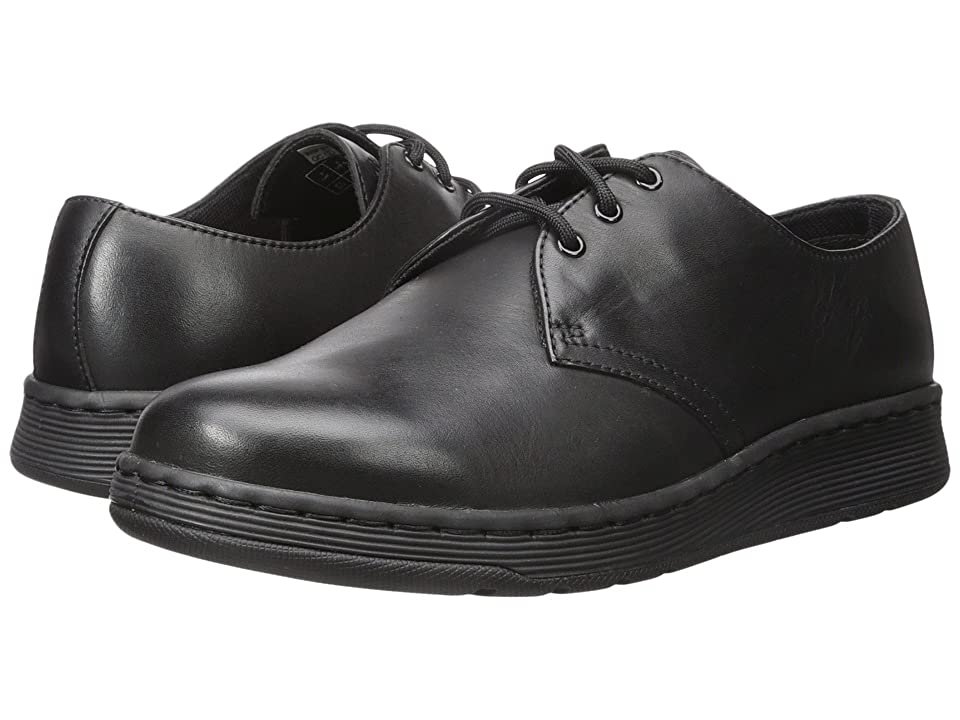 Dr. Martens Cavendish 3-Eye Shoe (Black Temperley 1) Lace up casual Shoes
