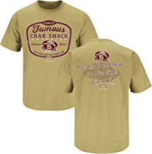 Florida State Football Fans. Jameis' Famous Crab Shack Gold T-Shirt (S-5X)