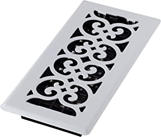 Decor Grates FS410-WH Floor Register, 4-Inch by 10-Inch, White