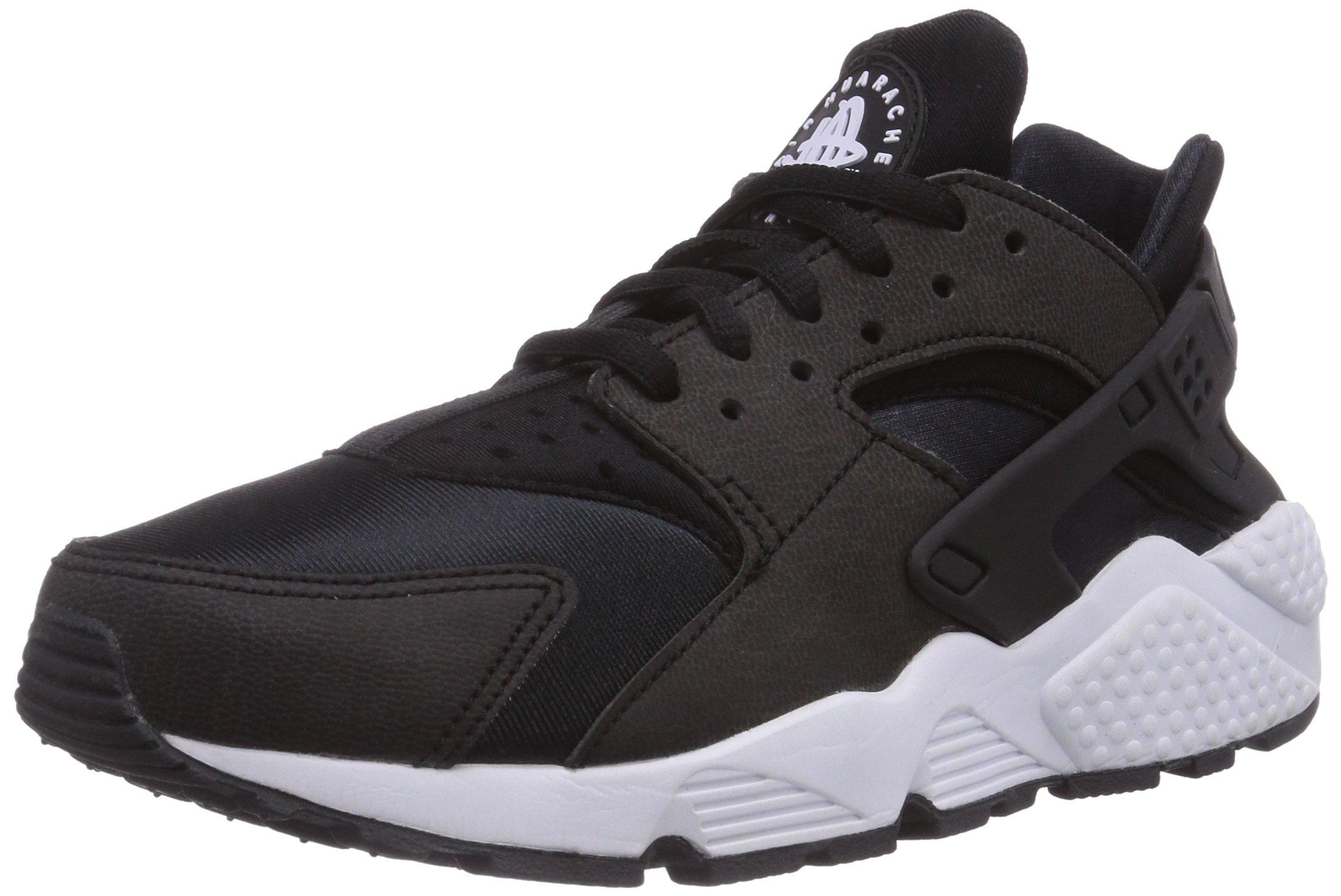 Nike Women's Air Huarache Run Black/Black-White Ankle-High Running Shoe - 9M