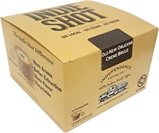 Independence Coffee Co. 12 Single Serve Cups, Old New Orleans Creme Brule (Pack of 2)