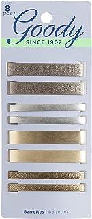 Goody Hair Barrettes, Assorted Metallics, 8-count (1942401)