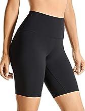 """CRZ YOGA Women's Naked Feeling Yoga Shorts - 8"""" / 10"""" High Waisted Athletic Shorts Fitness Workout Biker Shorts"""