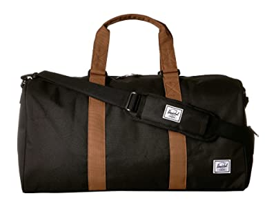 Herschel Supply Co. Novel Mid-Volume (Black/Saddle Brown) Duffel Bags