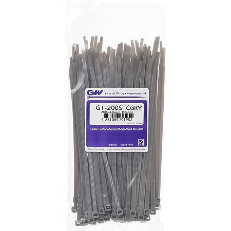 braun grau Kabelbinder 100 Stück