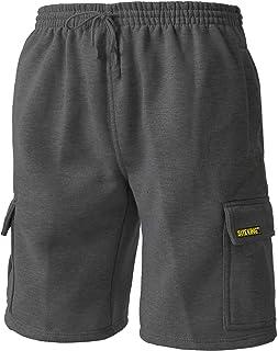 SITE KING Mens Cargo Combat Work Shorts - Tracksuit Bottom Shorts