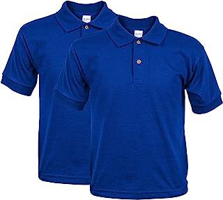 Gildan Boys 8800B Jersey Polo, 2-Pack Short Sleeve Polo Shirt