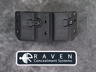 Raven Concealment Systems RCS 9/40/357 Copia Double Magazine OWB Universal Ambedextrous Holster, Short Profile MD Cut