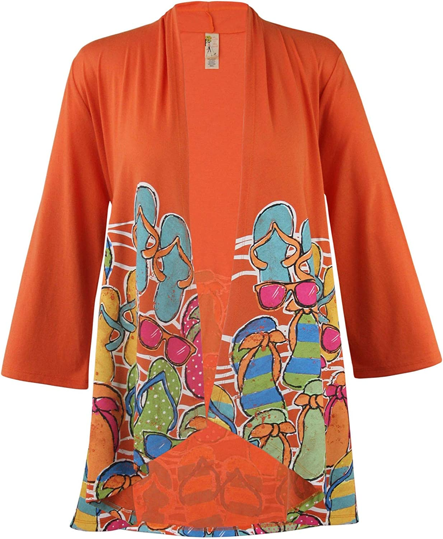 MCCC Sportswear Orange Women's 5 popular Adult Flip L Frenzy 55% OFF Flop - Kimono
