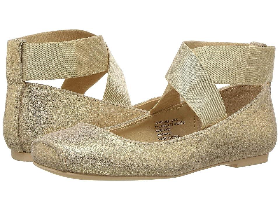 Janie and Jack Metallic Ballet Flat (Toddler/Little Kid/Big Kid) (Gold) Girls Shoes