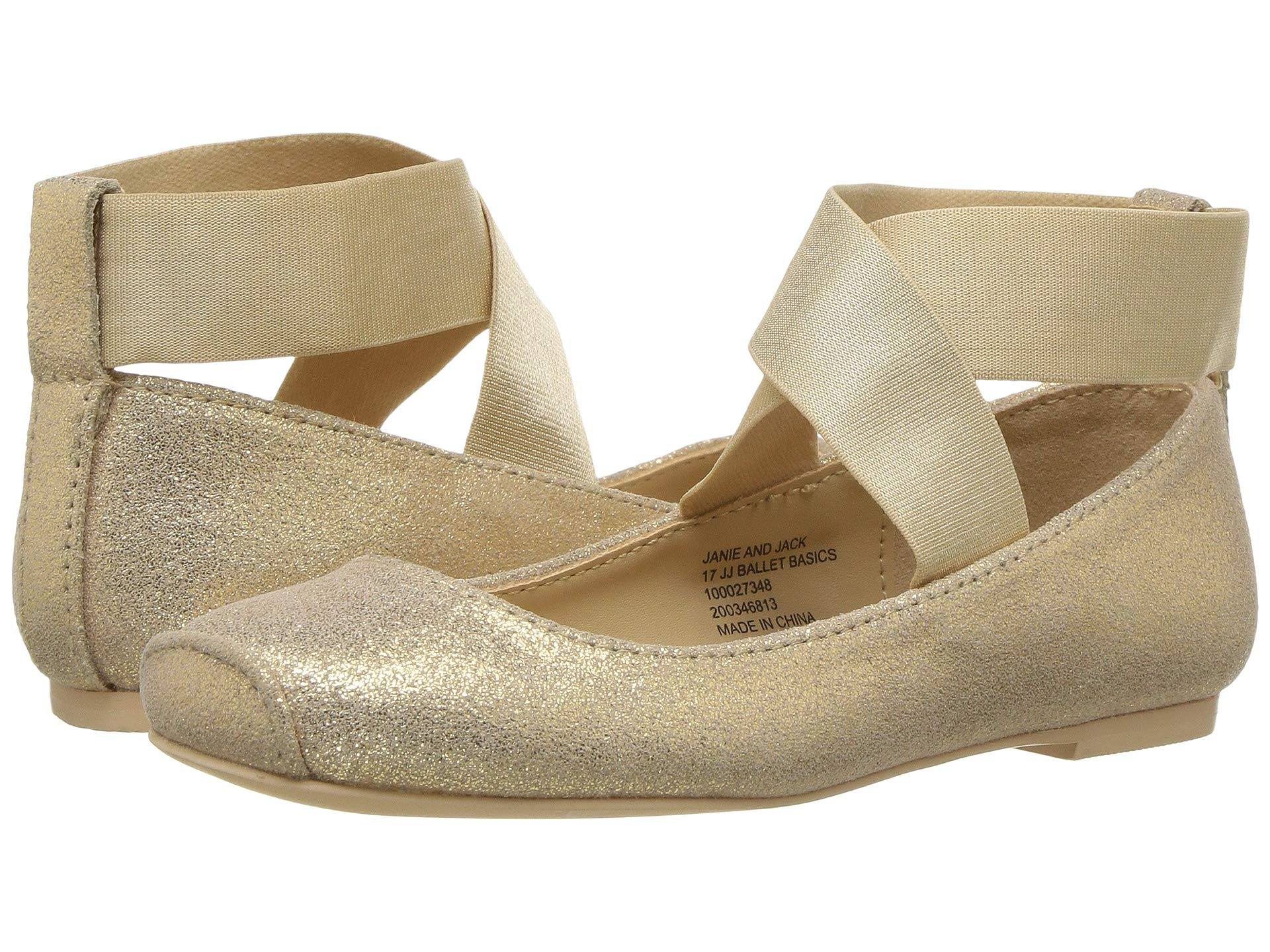 janie and jack metallic ballet flat (toddler/little kid/big kid)