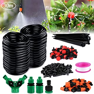Philonext Drip Irrigation,100ft /30M Garden Irrigation System, Adjustable Automatic Micro Irrigation Kits,1/4