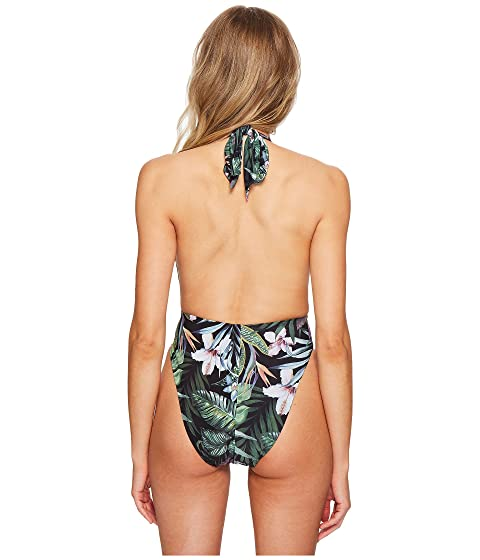 Illustrated Front Backless una Secret Plunge pieza Negro de Garden Sports wqRHXIdxq