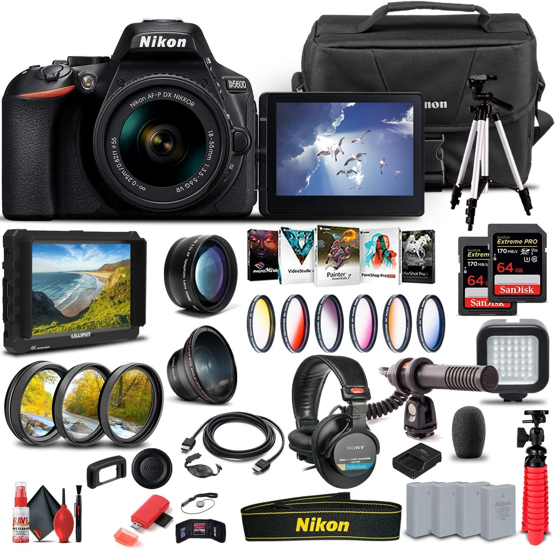 Nikon D5600 DSLR Camera with Max 52% OFF 18-55mm Lens 2021new shipping free shipping 1576 Monitor 4K +