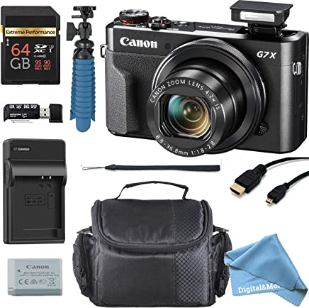 Canon PowerShot G7X Mark II 20.1MP 4,2x Zoom Óptico Cámara Digital + 64GB tarjeta de memoria + Deluxe caso de la cámara + HDMI Cable + SPIDER trípode + digitalandmore accesorios de alta calidad Bundle (Cyber lunes Deal)